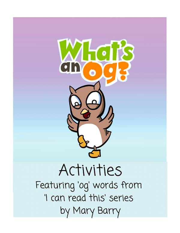 """Activity Book for 4, 5 and 6 year olds based on the book """"What's an Og?"""