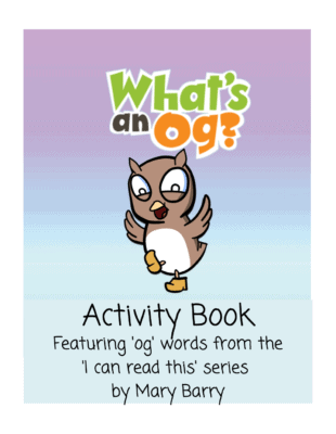 What's an Og? Activity Book cover showing Baby Owl dancing in clogs