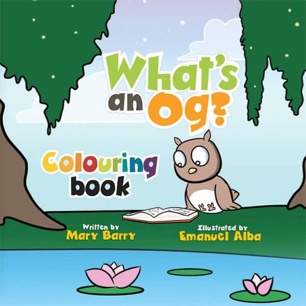 What's an Og?, Whats an og, Kids book, children's book, 3-5 yo, 4-6 yo, learn to read, read to your child, reader, phonics, phonemics, teacher, parents, homeschool, homeschooling, preschool, preschoolers, kindergarten, kindergarden, colouring book, coloring book.